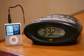 Clock Radio with MP3 and IPOD connectivity