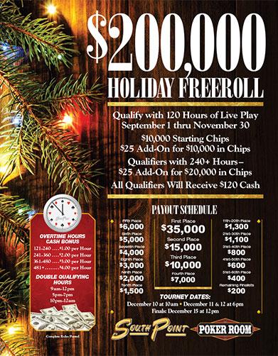 South point casino poker tournament schedule geant casino pessac ouverture 1er novembre