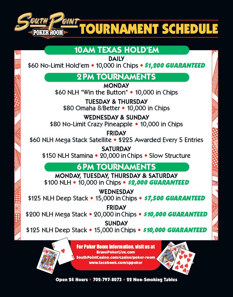 Crown Casino Poker Tournament Schedule