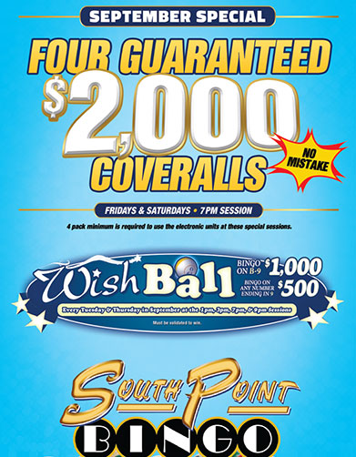 Bingo - South Point Hotel Casino and Spa Official Website
